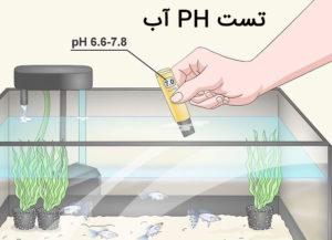 تست ph آب برای نگهداری آکواریوم